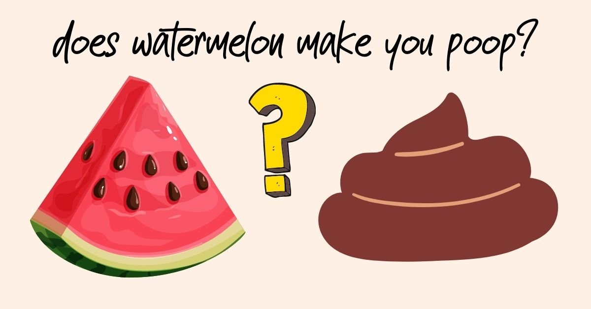 picture of a slice of watermelon and poop